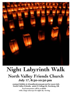 Night labyrinth walk July